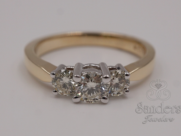 Bridal Jewelry - Three Stone Diamond Ring