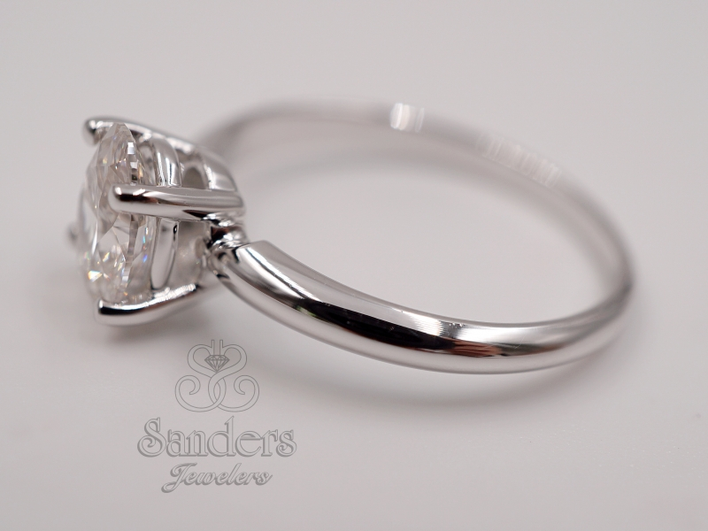 Bridal Jewelry - Diamond Solitaire Engagement Ring - image #2