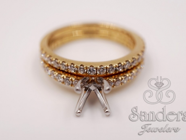Bridal Jewelry - Solitaire Engagement Ring With Matching Band