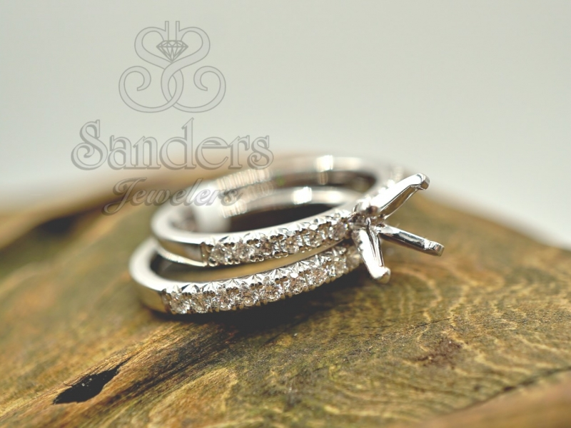 Bridal Jewelry - Diamond Wedding Set - image #2
