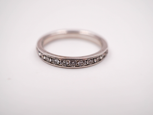 Bridal Jewelry - Channel Set Diamond Wedding Band