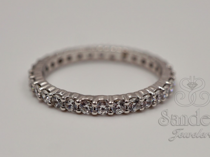 Bridal Jewelry - Diamond Eternity Band - image #2