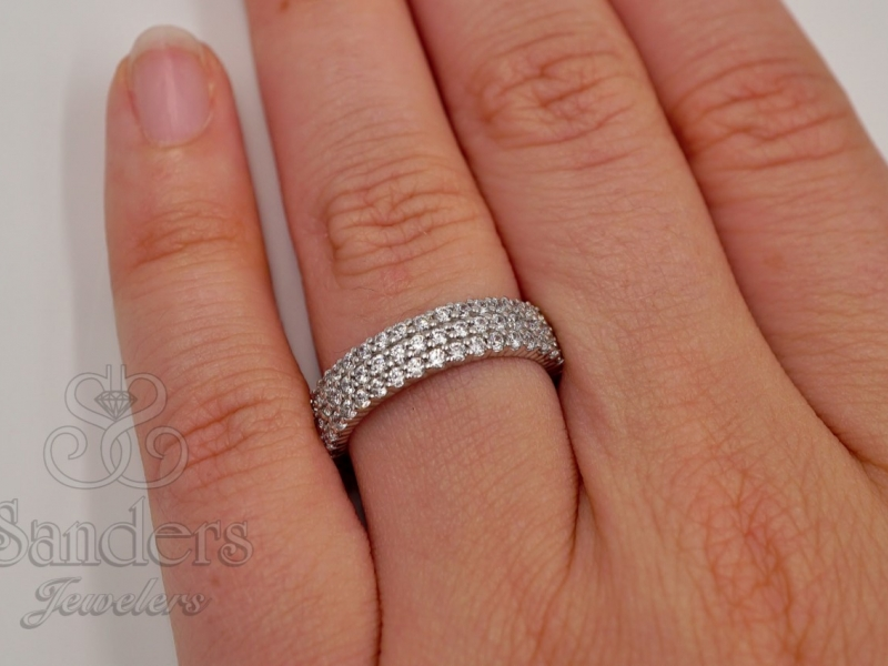 Bridal Jewelry - Diamond Eternity Band - image 4