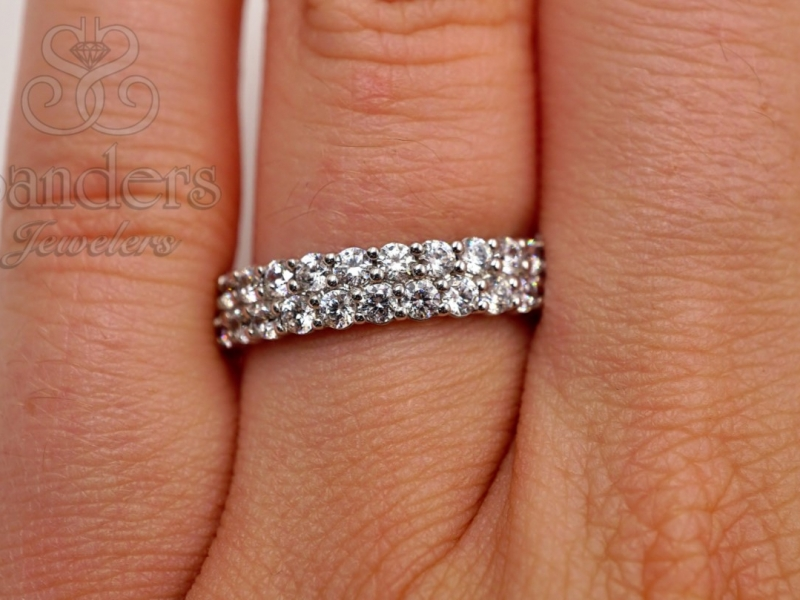 Bridal Jewelry - Diamond Eternity Band - image #4