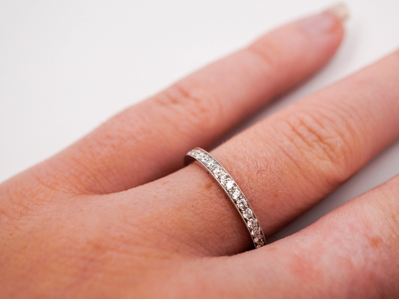 Bridal Jewelry - Eternity Band  - image #2