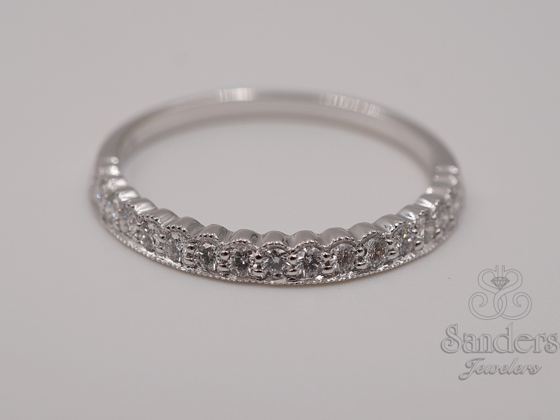 Wedding Bands - Scalloped Stackable Ring