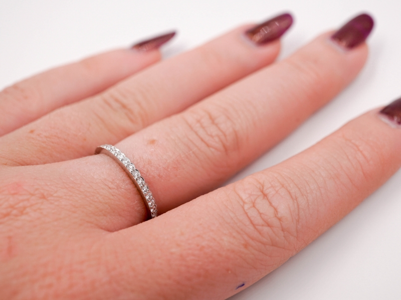 Wedding Bands - Scalloped Stackable Ring  - image #4