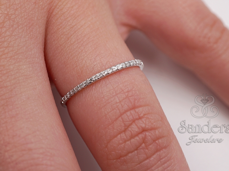 Bridal Jewelry - Delicate Diamond Band - image #2