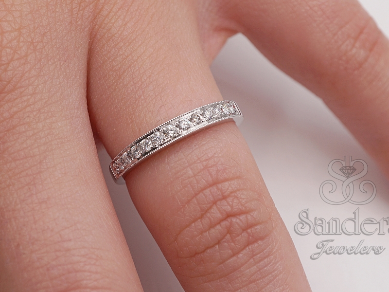 Bridal Jewelry - Straight Diamond Band - image #2