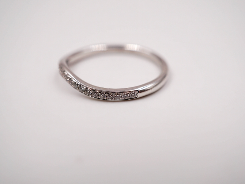 Bridal Jewelry - Curved Diamond Band - image #2