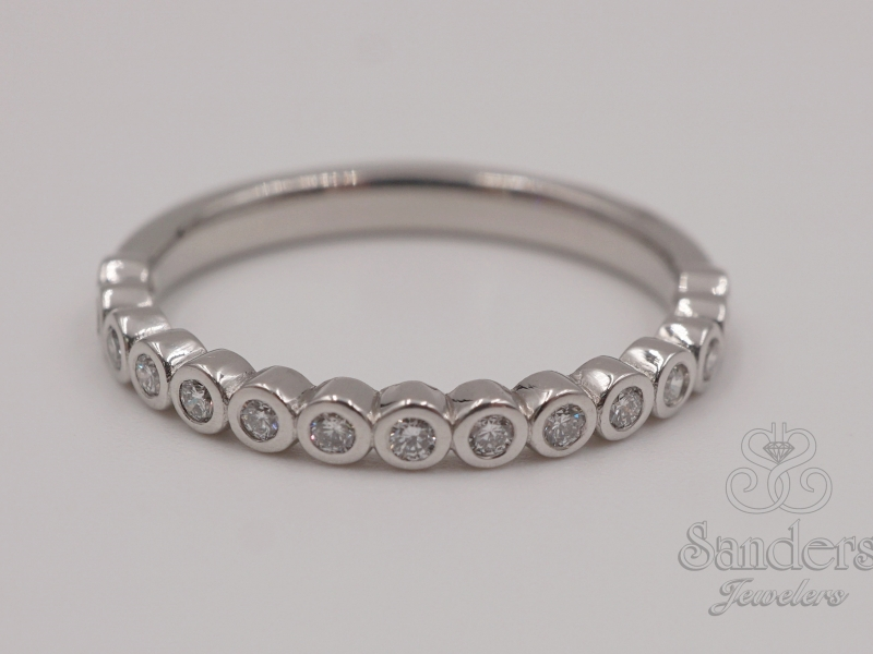 Bridal Jewelry - Custom Diamond Wedding Band - image 2