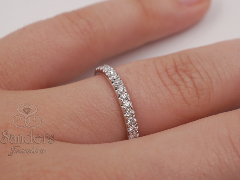 Bridal Jewelry - Diamond Wedding Band - image #3