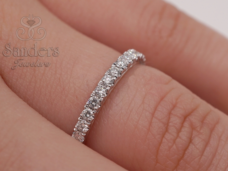 Bridal Jewelry - Diamond Wedding Band - image 2