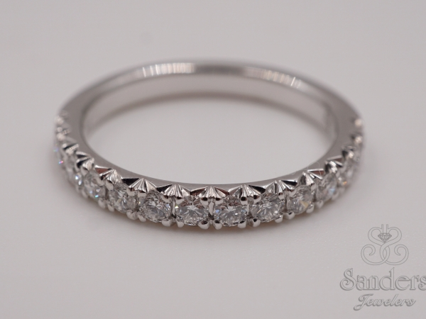 Bridal Jewelry - French Pave Diamond Band