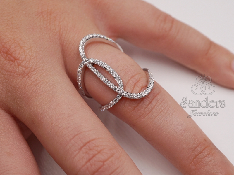 Rings - Overlapping Fashion Ring - image #3