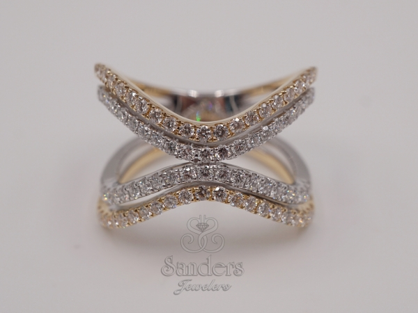Rings - Two-Tone Diamond Fashion Ring