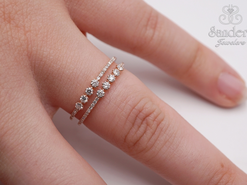 Rings - Diamond Fashion Ring - image #2