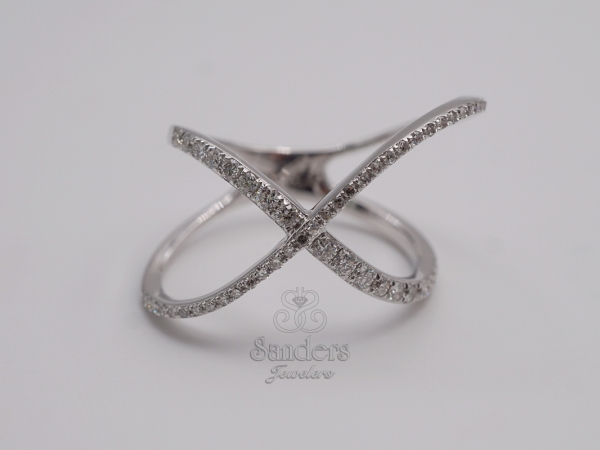 Rings - Overlapping Diamond Fashion Ring