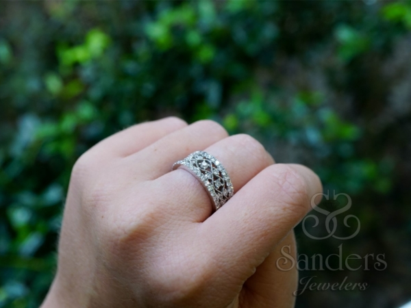 Rings - Wide Diamond Fashion Band