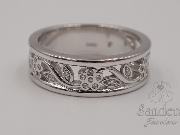 Rings - Floral Diamond Ring