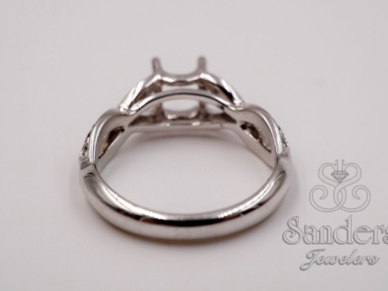 Engagement Rings - Twisting Diamond Engagement Ring - image 3