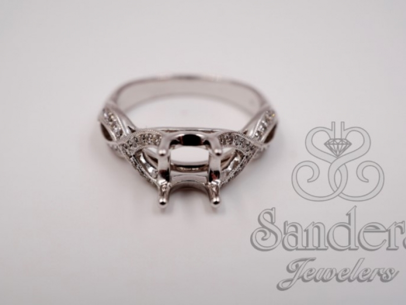 Engagement Rings - Twisting Diamond Engagement Ring - image #2