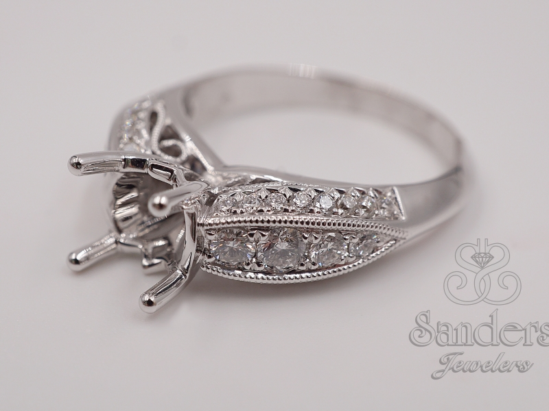 Bridal Jewelry - Three Sided Engagement Ring  - image #2