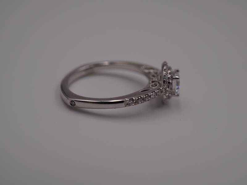 Bridal Jewelry - Double Halo Diamond Engagement Ring - image #2