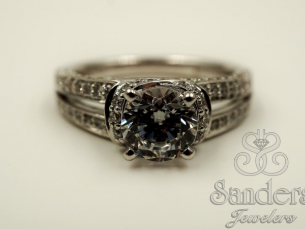 Bridal Jewelry - Open Shank Diamond Engagement Ring