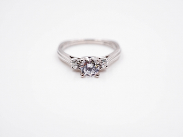 Bridal Jewelry - Three Stone Engagement Ring