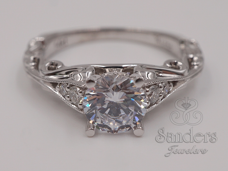 Bridal Jewelry - Scroll Engagement Ring