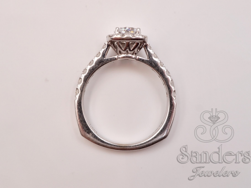 Bridal Jewelry - Cushion Halo Engagement Ring - image #3