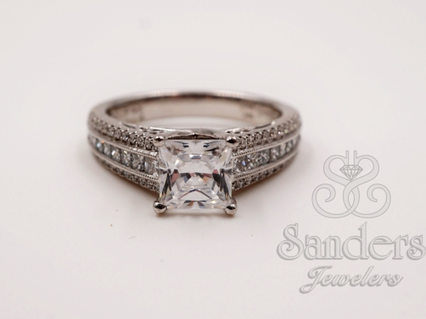 Engagement Rings - Modern Princess Cut Diamond Engagement Ring