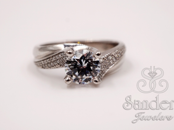 Bridal Jewelry - Swirl Engagement Ring