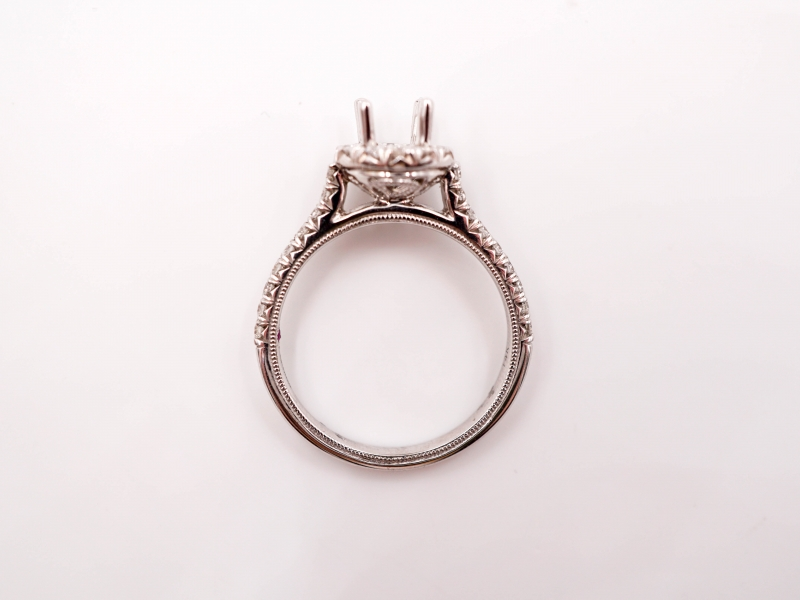 Bridal Jewelry - Round Halo Diamond Engagement Ring - image 3