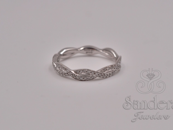 Bridal Jewelry - Twisting Diamond Wedding Band