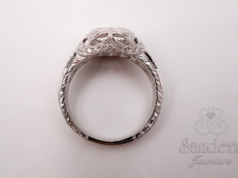 Bridal Jewelry - Bezel Set Engagement Ring  - image #5