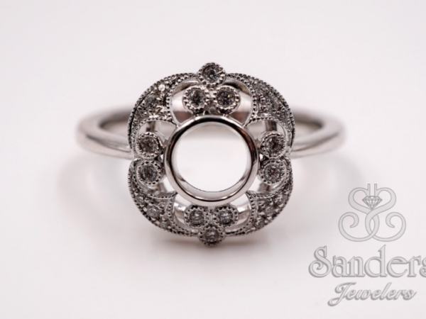 Bridal Jewelry - Flower Filigree Ring