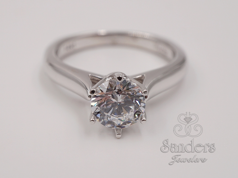 Bridal Jewelry - Crown Style Solitaire Engagement Ring