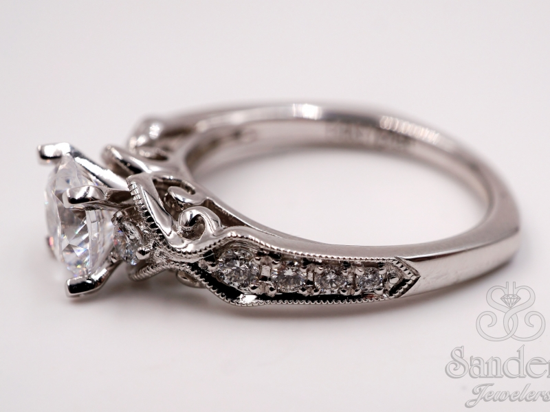 Bridal Jewelry - Vintage Inspired Engagement Ring - image #3