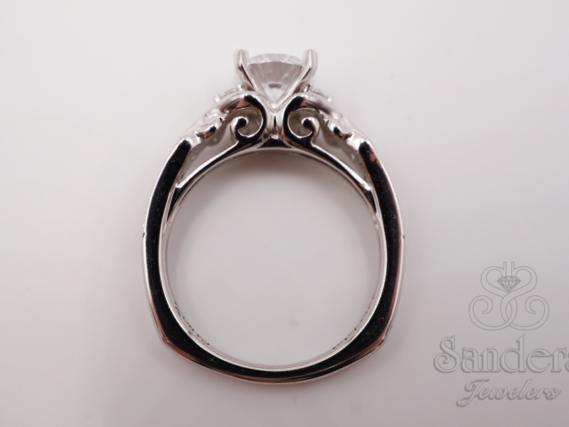 Bridal Jewelry - Vintage Inspired Engagement Ring - image 4
