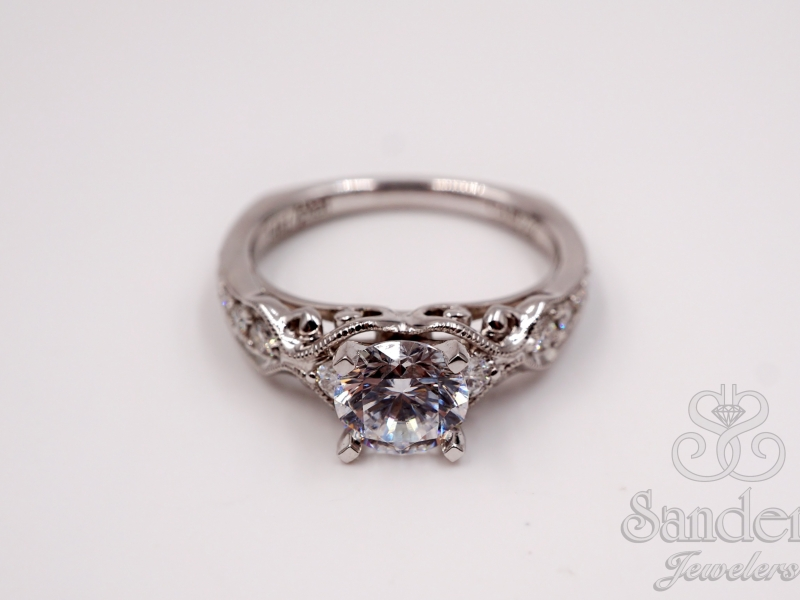 Bridal Jewelry - Vintage Inspired Engagement Ring - image 2