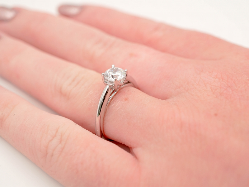 Bridal Jewelry - Solitaire Engagement Ring  - image #4