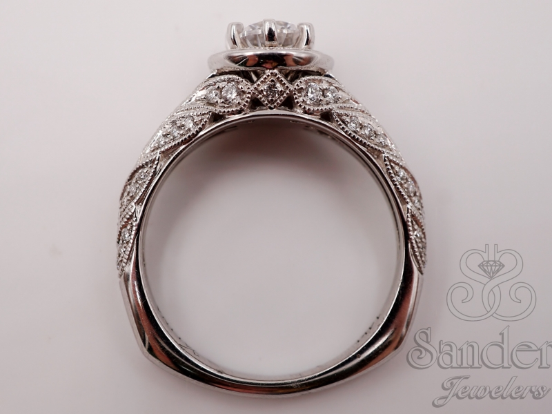 Bridal Jewelry - Vintage Engagement Ring - image #3