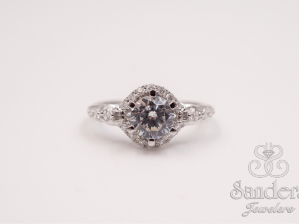 Bridal Jewelry - Six Prong Diamond Engagement Ring