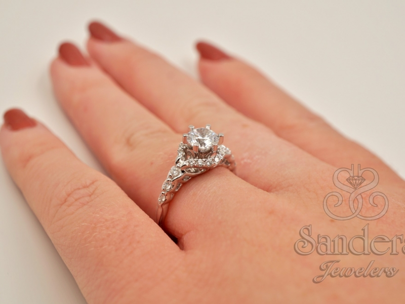 Bridal Jewelry - Six Prong Diamond Engagement Ring - image #4