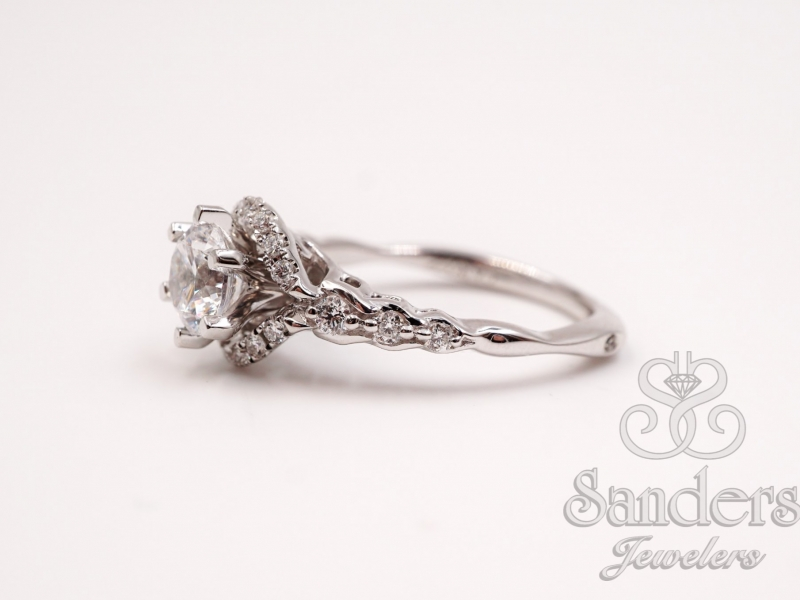 Bridal Jewelry - Six Prong Diamond Engagement Ring - image #2