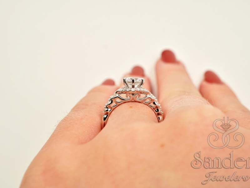 Bridal Jewelry - Six Prong Diamond Engagement Ring - image #5