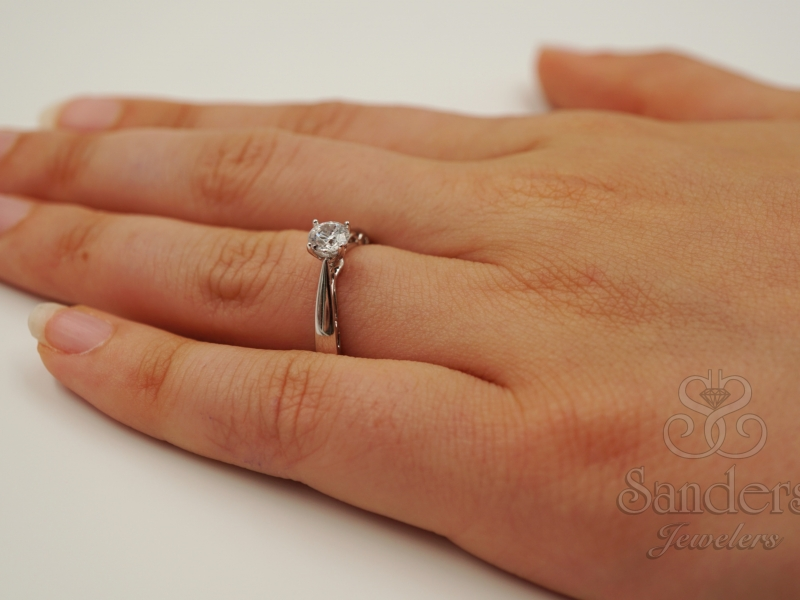 Bridal Jewelry - Solitaire Diamond Engagement Ring  - image #5