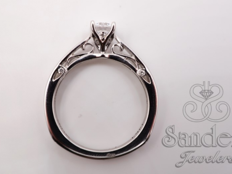 Bridal Jewelry - Solitaire Diamond Engagement Ring  - image #3